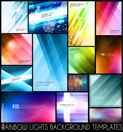 Abstract background templates for your colorful flyers