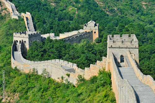 Aluminium Chinese Muur Great Wall of China in Summer