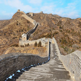 Great Wall of China with beautiful blue sky