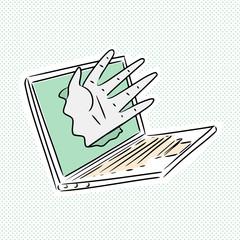 Cyber Hand Breaking Computer