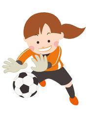 サッカー キーパー 女性