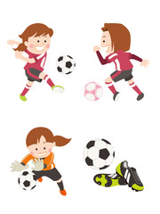 サッカー 女性
