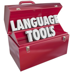 Language Tools Toolbox Words Foreign Dialect Learning School