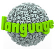 Language Letter Word Sphere Learn Foreign Speak Talk