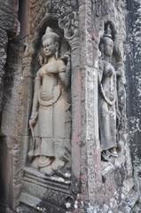 Beautiful apsaras of Ta Prohm Kel , Cambodia.