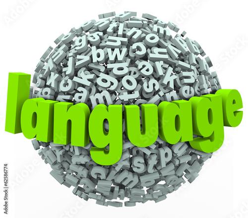 Language Letter Word Sphere Learn Foreign Speak Talk