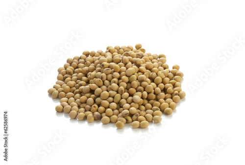 asian soy on white background
