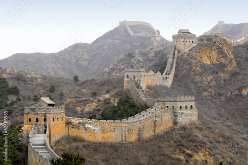 Tuinposter Chinese Muur Great Wall of China with clear sky