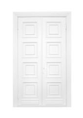 Double door on a white background