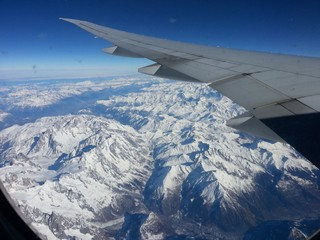 Swiss Alps in Boeing 777