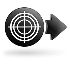 cible sur bouton noir