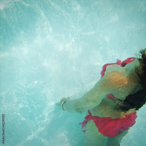 Girl in swiming pool