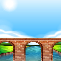 A bridge under the bright sun