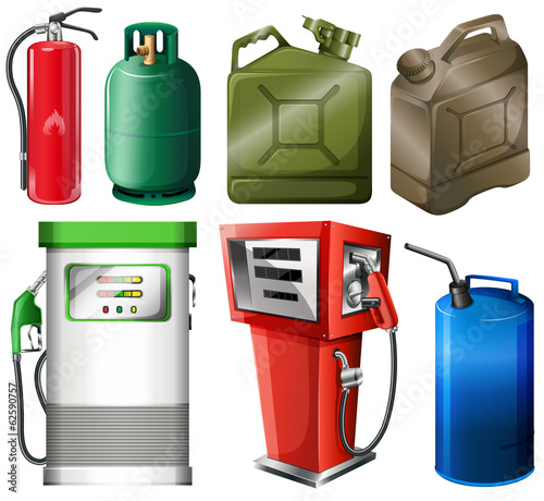 Different fuel containers