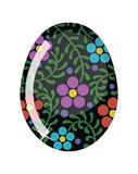 Glass Easter egg. Vector illustration