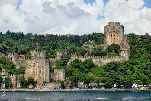 Rumeli Hisari by the Bosphorus Strait in Istanbul