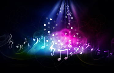 Digital illustration of music background.