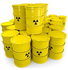 Atommüll Fäser gestapelt