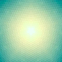 Vector background. Conceptual sun of hexagons.