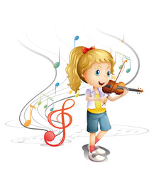 A young musician