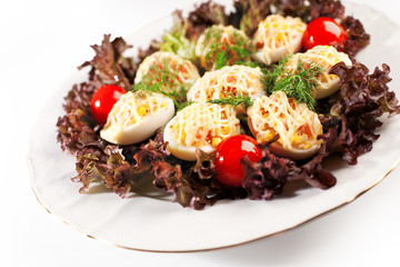 deviled eggs salad