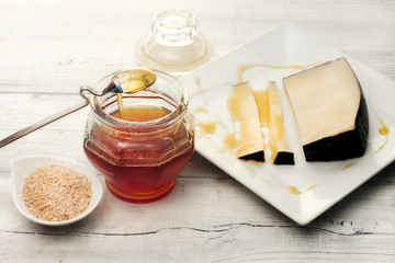 honey and pecorino cheese