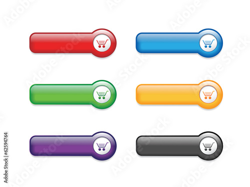 """E-SHOPPING"" Blank Buttons (add to cart order buy now my basket)"