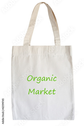 cotton eco bag isolated on white background