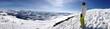 Zdjęcia na płótnie, fototapety, obrazy : Skifahren-Panoramaaufnahme