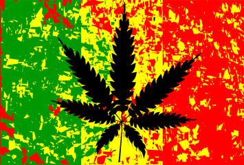 Jamaican Rastafarian Flag