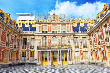Main entrance of Versailles Palace, Versailles, France.