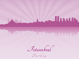 Istanbul skyline in purple radiant orchid