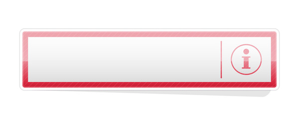 the blank red info button
