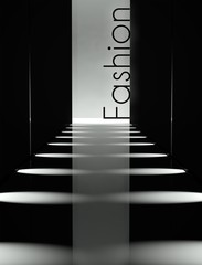 Dark design fashion runway background