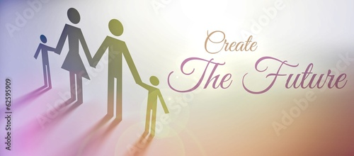 Create the Future family concept illustration