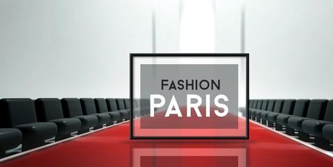 Red carpet runway Fashion Paris