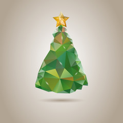 Low poly doodle Christmas Tree