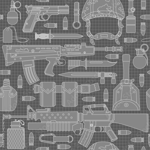 seamless military pattern 01