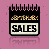Calendar label with the words September Sales written inside