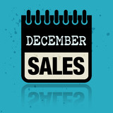 Calendar label with the words December Sales written inside