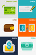 Set of flat design concepts - payment methods