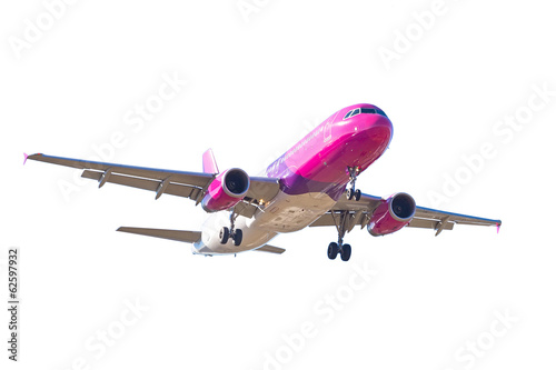 Airplane isolated over white background
