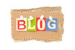 Blog auf Karton
