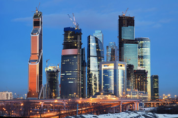 Construction of the CITY. Moscow. Rosia