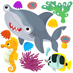 Sea elements and animals