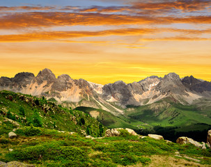 Val di San Pellegrino in the sunset - Italy Alps