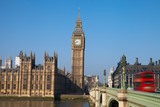 House of parliament and Westminster bridge in London, United Kin