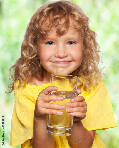 Child with a glass of water