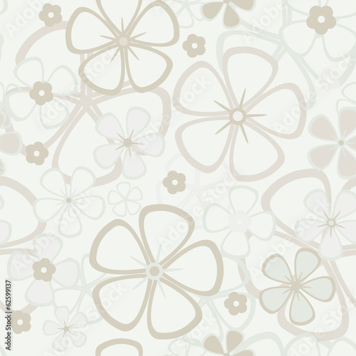 Tapeta ścienna na wymiar Floral abstract background, seamless