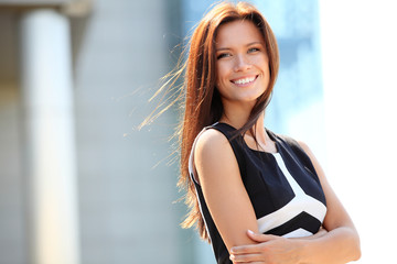 Portrait of a successful business woman smiling